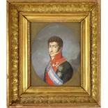 """Johann Maria Monsorno (1768-1836, Wien, Miniaturmaler), """"Porträt von König Ferdinand VII. von"""