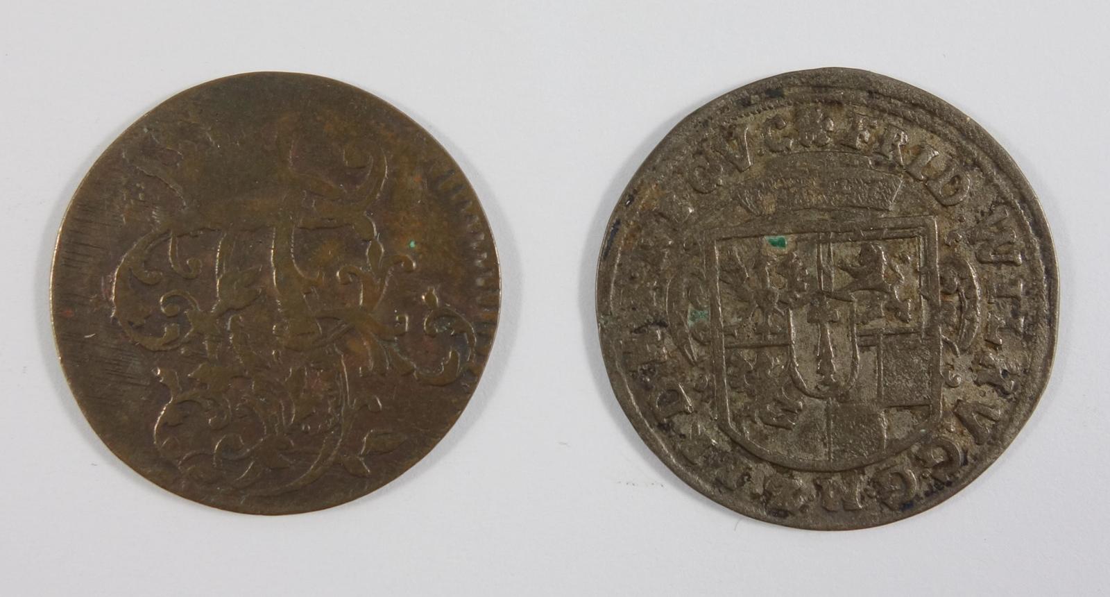 3 Pfennige 1763 und 2 Groschen 1653, König Friedrich, Brandenburg Preussen, s3 pfennig, 1763 and 2