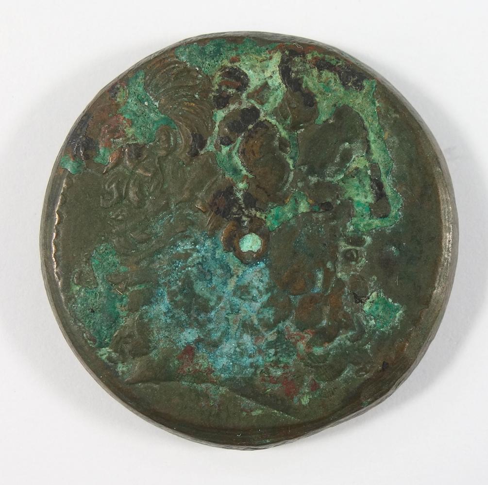AE-Drachme, Ptolomäus III. (246-222 v.Chr.), Büste des Zeus Ammon / stehender Adler mit Cornucopiae,