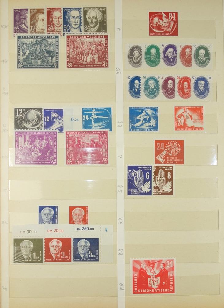 Besatzungzonen mit Aufdrucken, Gründung der DDR bis 1965, gest. und postfrisch, ohne - Bild 2 aus 3