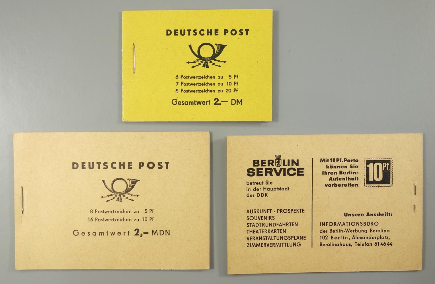 Briefmarken und Ganzsachen, DDR und BRD, ZKD Marken, DPD, Luftpost, SbPA Aufkleber, - Bild 2 aus 3