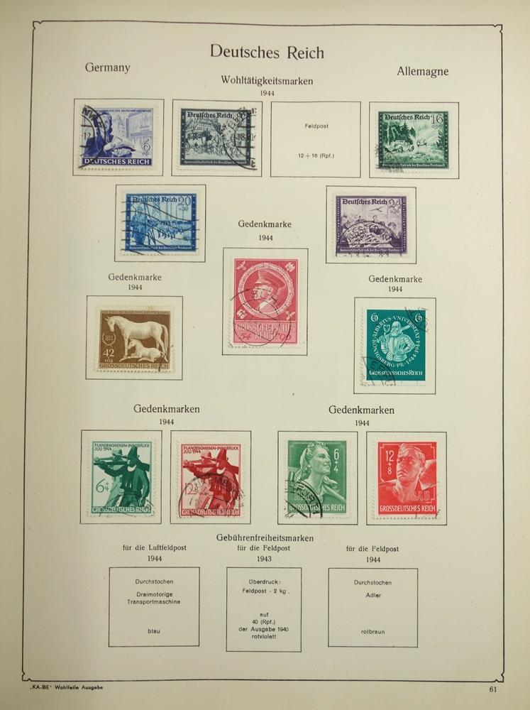 2 KB-BE Briefmarkenalben Nr. 1321/1323, Deutsches Reich und Inflation; Deutsches Reich 1880-1948, - Bild 3 aus 5