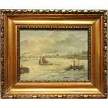 "Cor van der Zwalm (1894-1955, NL), ""Rotterdamer Hafen"", Öl/Lw.; unten rechts signiert, partiell"