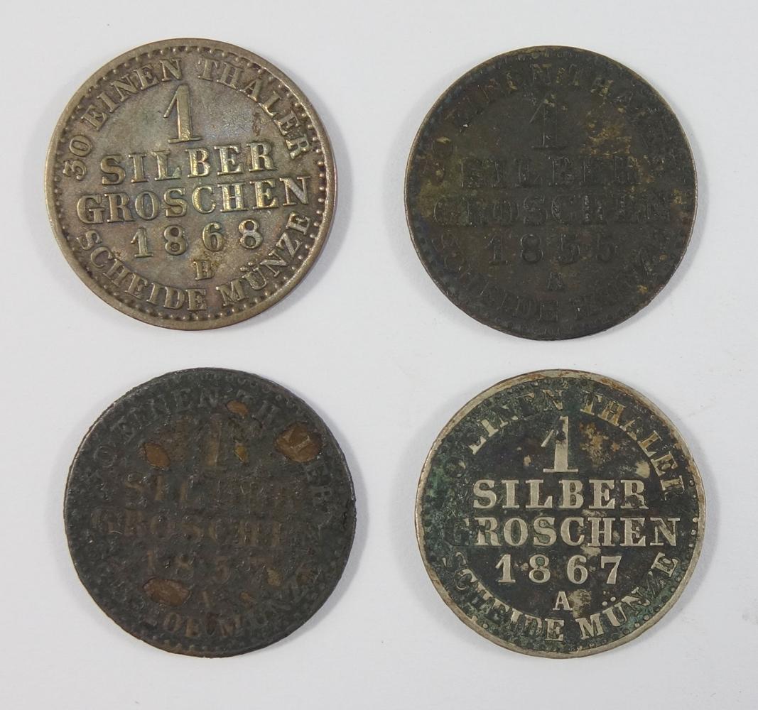 4* 1 Silbergroschen, Friedrich Wilhelm von Preussen: 1 Silbergroschen 1868 B; 1 Silbergroschen - Bild 2 aus 2