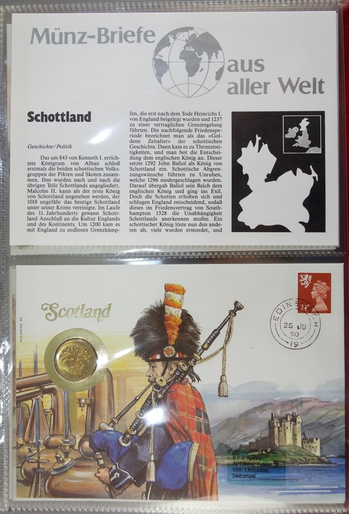 7 Ordner mit Numisbriefen aus aller Welt, ca.400 Stück, Ende 20.Jh.-Anfang 21.Jh., in originalen - Bild 3 aus 4