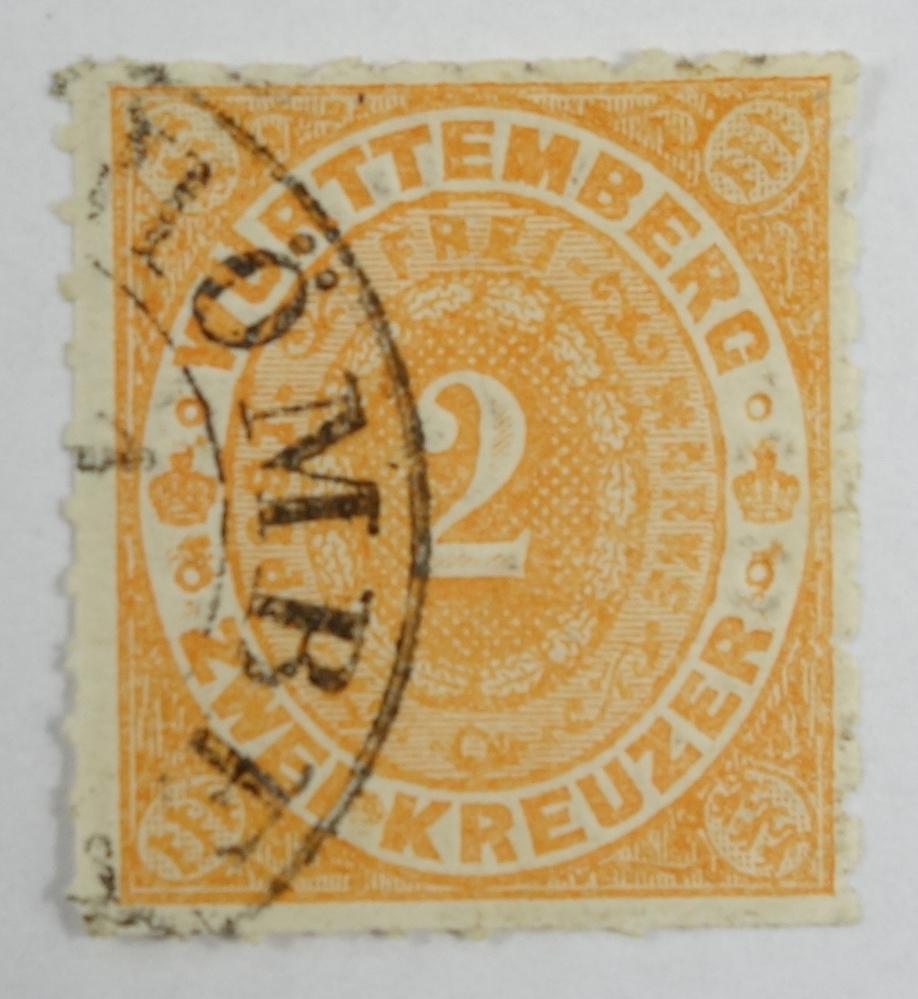 2 Kreuzer Württemberg, Michel 37a, Kat.-Wert 170 €, gestempelt2 Kreuzer Württemberg, Michel 37a,