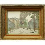 """unsigniert, """"Wuppertal, Sonnborner Straße"""", Farblithografie, wohl 1914, rückseitig handschriftlich"""