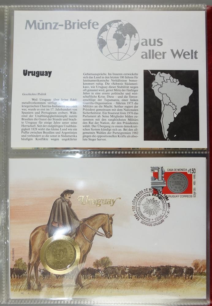7 Ordner mit Numisbriefen aus aller Welt, ca.400 Stück, Ende 20.Jh.-Anfang 21.Jh., in originalen - Bild 2 aus 4