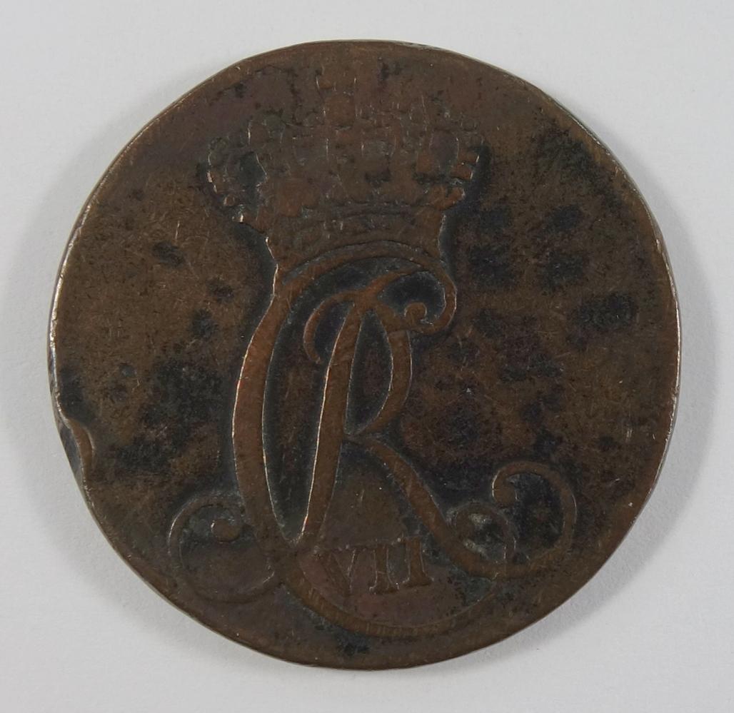 1 Sechsling 1787 Schleswig-Holstein,Christian VII. von Dänemark, Scheidemünze, Kupfer, ss1