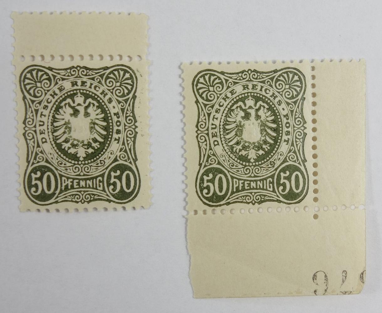 2* 50 Pfennig, Nr.DR 44, Kat.-Wert 160 €, postfrisch2 * 50 Pfennig, No.DR 44, catalog value 160 €,