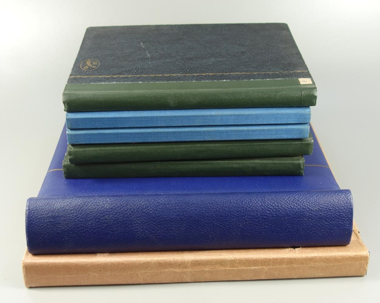 Briefmarken DDR 1950 bis um 1980, 7 Alben postfrisch, auch gestempelt, viele Sätze doppeltPostage