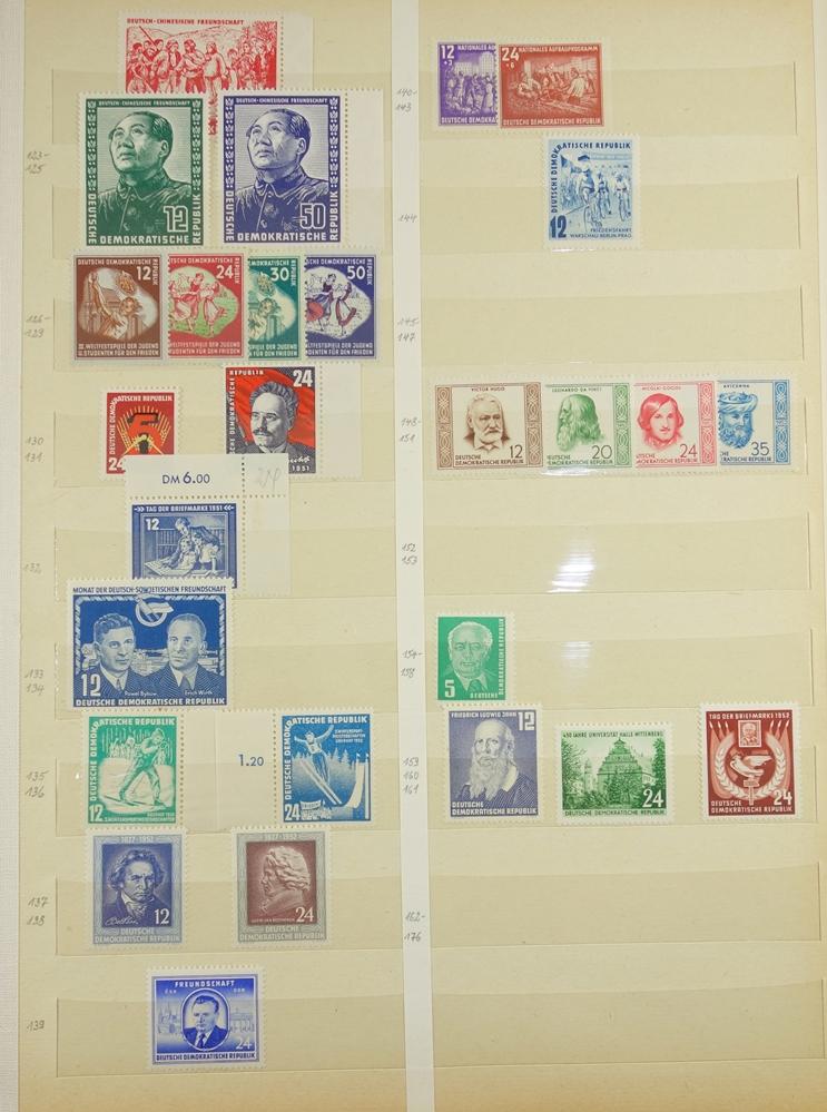 Besatzungzonen mit Aufdrucken, Gründung der DDR bis 1965, gest. und postfrisch, ohne - Bild 3 aus 3