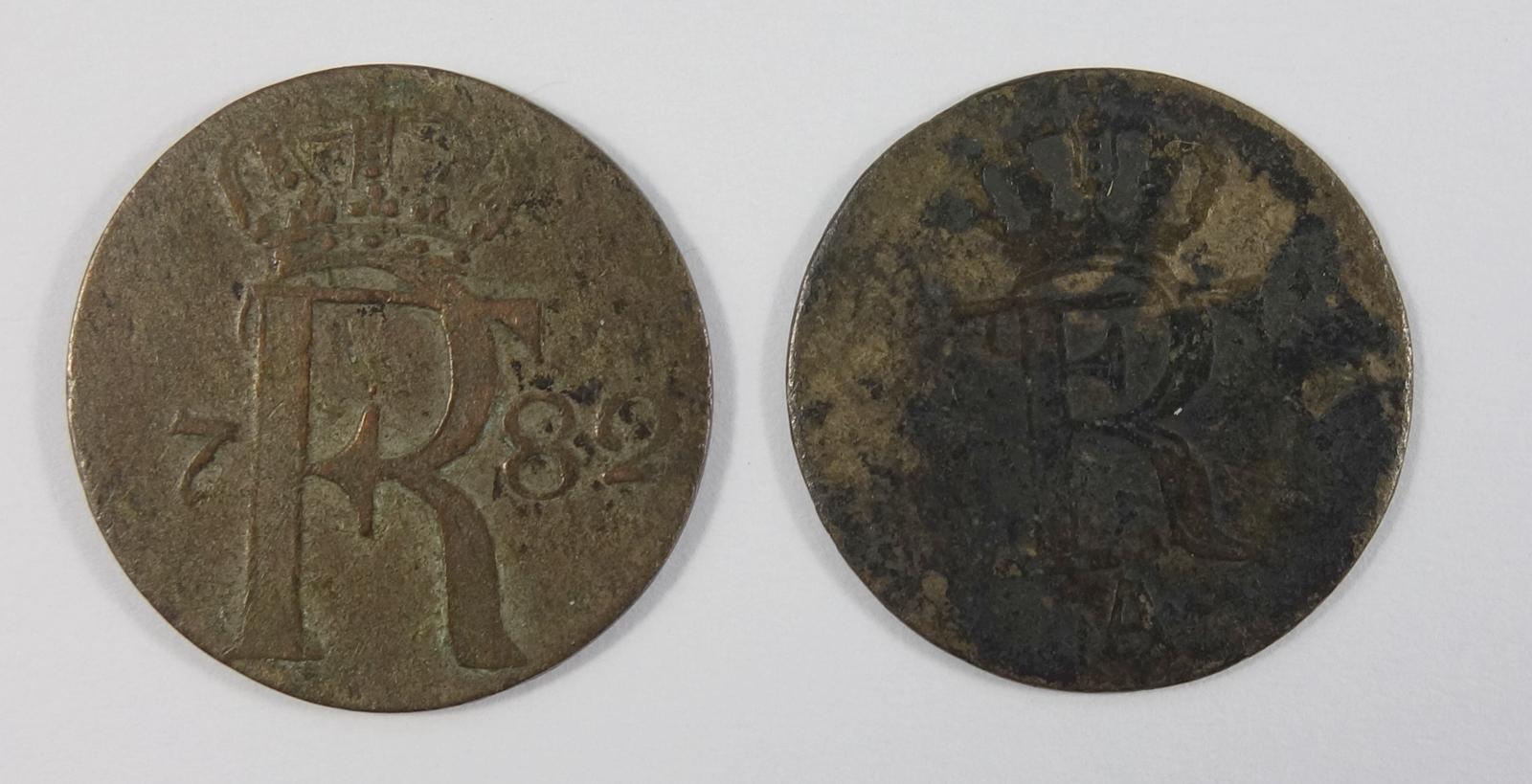 1/24 Taler 1782 A und 1/48 Taler 1773, Brandenburg-Preußen, Friedrich II., s-ss1/24 Thaler 1782 A
