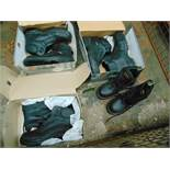 Qty 4 x UNISSUED Jallatte & Doctor Martin Safety Boots Mixed Sizes