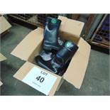 Qty 5 x Unissued Bekina Wellington Safety Boots Size 10
