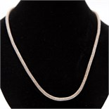 White Metal Stamped 925 Rope Tribal Style Necklace + White Metal Bracelet