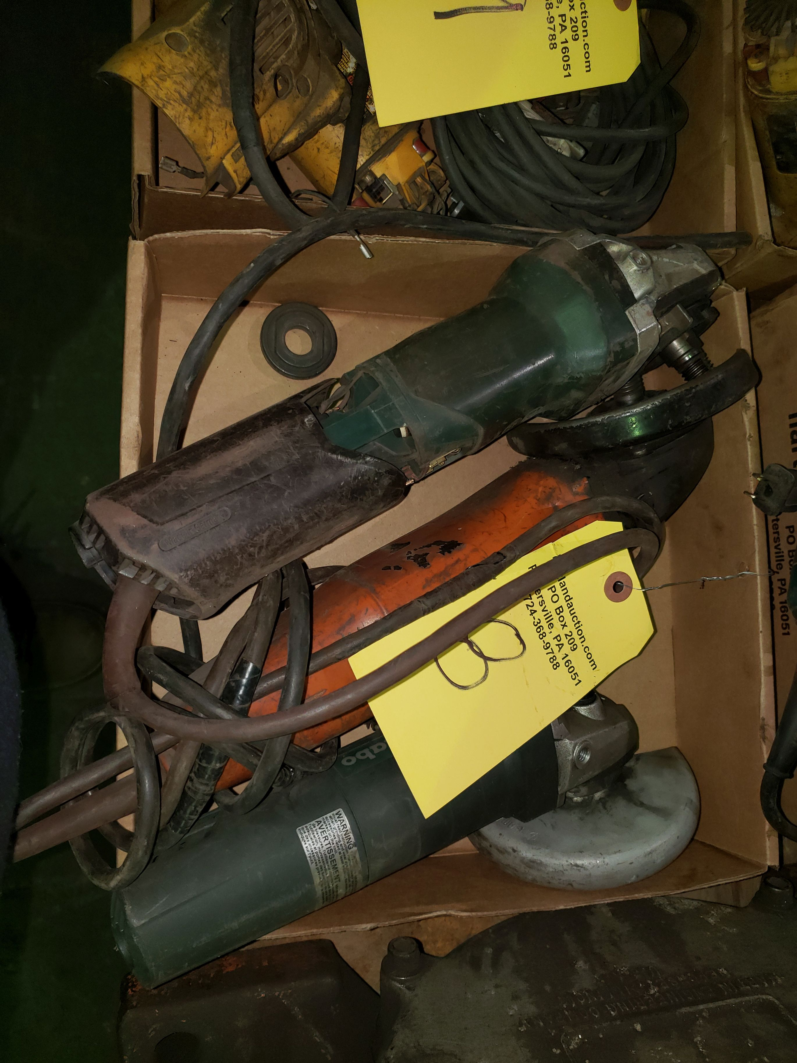 TWO METABO & FEIN RIGHT ANGLE GRINDERS
