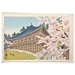 KOTOZUKA EIICHI (1906 - 1979)   Original woodblock print. Japan , 20th cent.   The Nigatsu hall