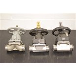 Lot of (3) Large Shut Off Valves