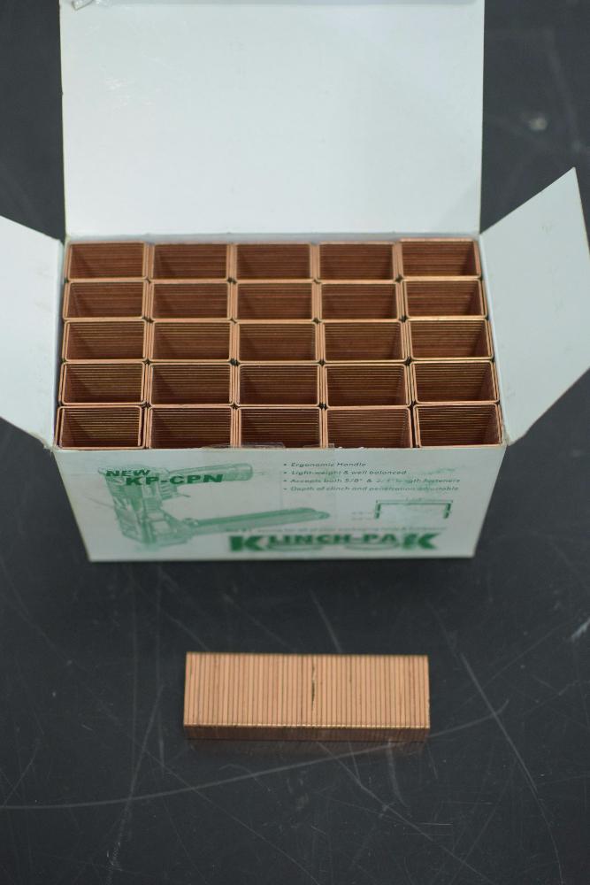 Lot of (8) Boxes of Klinchpak Carton Closing Staples - Image 2 of 3