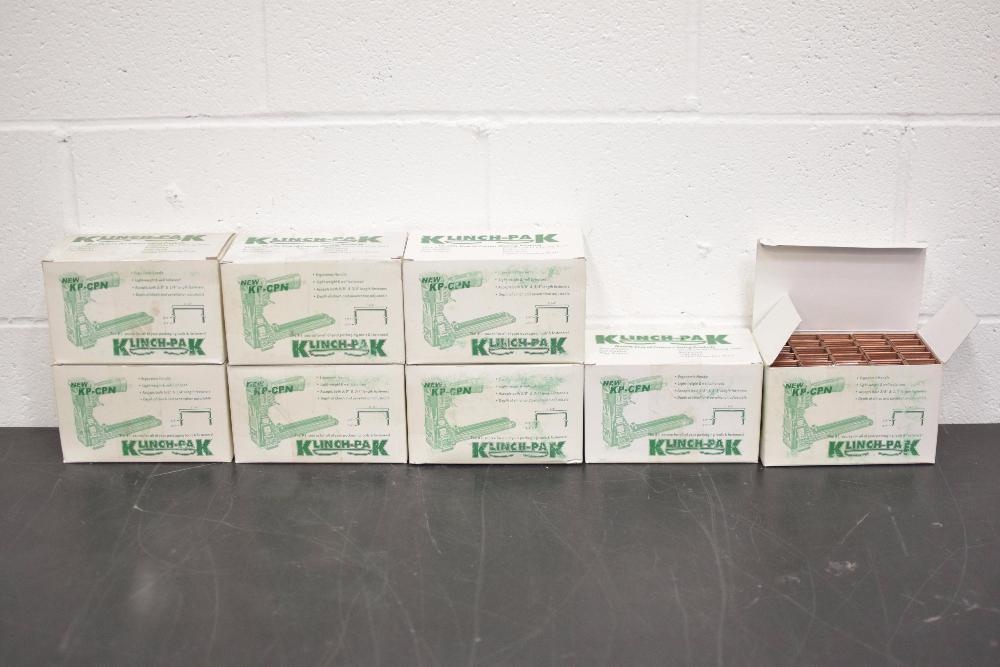 Lot of (8) Boxes of Klinchpak Carton Closing Staples