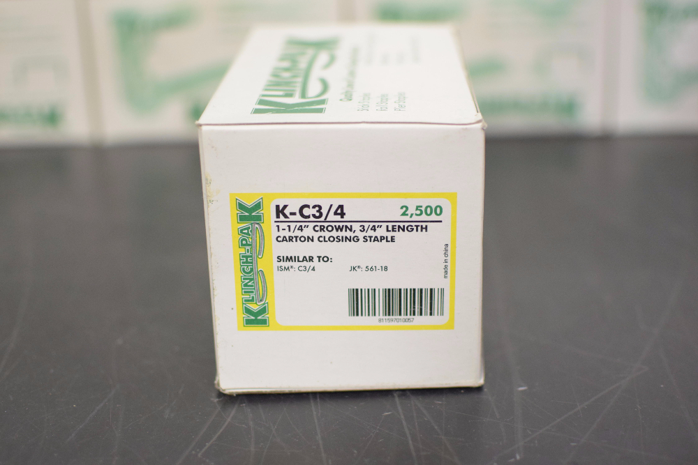 Lot 5 - Lot of (8) Boxes of Klinchpak Carton Closing Staples