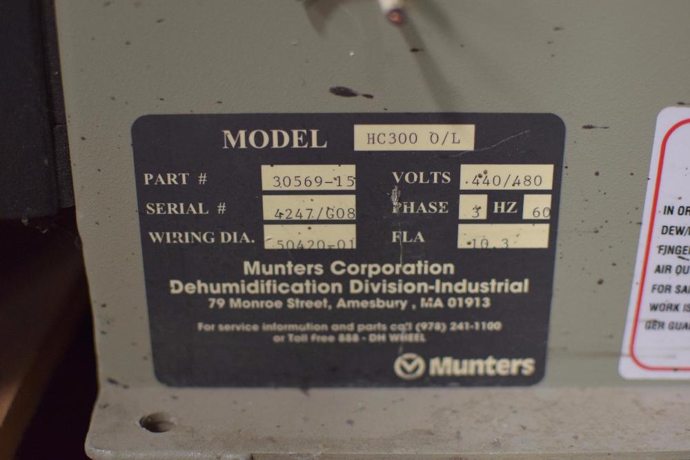 Munters HC-300 O/L Dehumidifier - Image 2 of 2