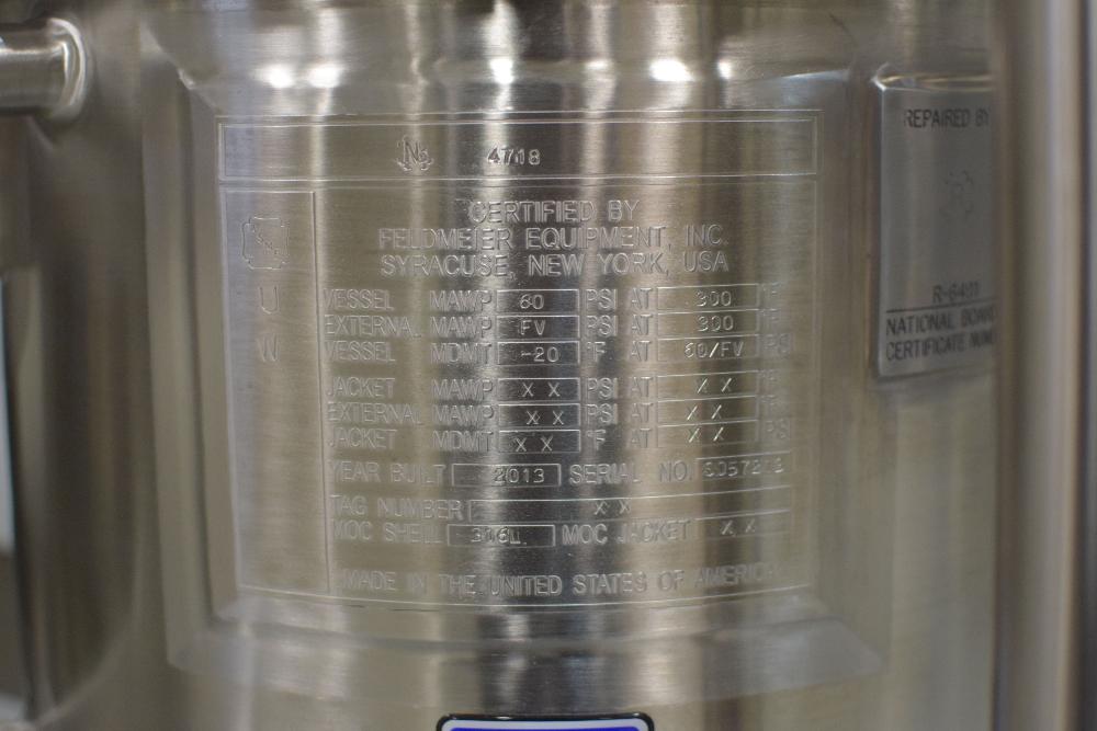 Feldmeier 30 Liter Tank with Agitator - Image 7 of 12