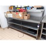 Stainless Steel Two Shelf Prep Bench