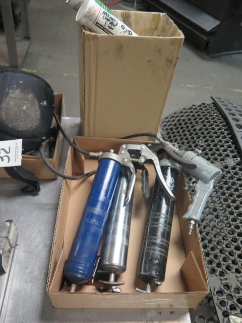 Lot 32 - Hand Tools and Grease Guns