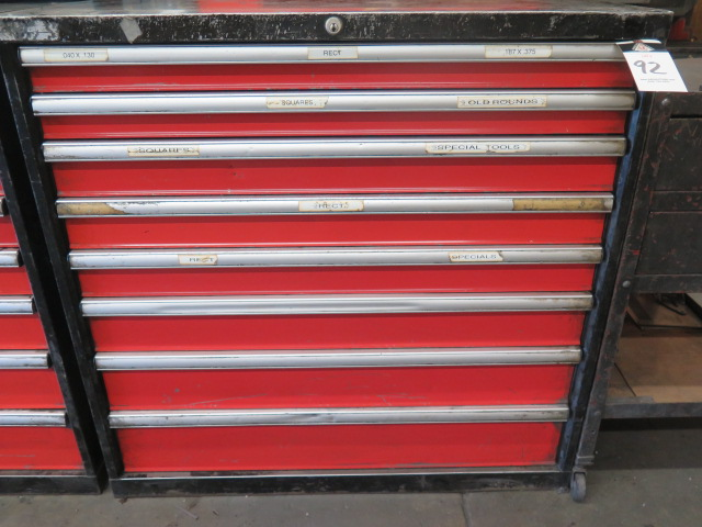 Lot 92 - Amada 8-Drawer Tooling Cabinet w/ Punch Tooling