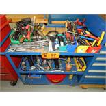LOT/ SHOP CART WITH HAND TOOLS