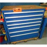 LOT/ 7-DRAWER TOOL CABINET WITH CONTENTS