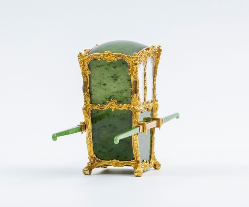 Please note:- Fabergé nephrite, rock crystal, mother-of-pearl and vari-colour gold miniature - Image 17 of 74
