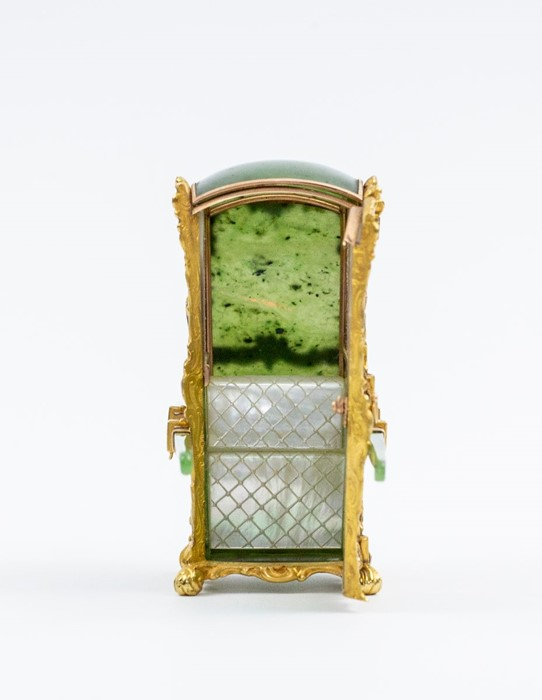 Please note:- Fabergé nephrite, rock crystal, mother-of-pearl and vari-colour gold miniature - Image 40 of 74
