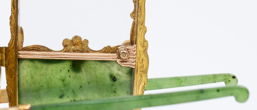 Please note:- Fabergé nephrite, rock crystal, mother-of-pearl and vari-colour gold miniature - Image 33 of 74