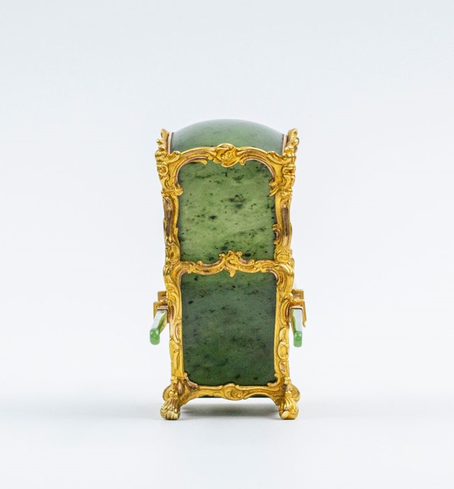 Please note:- Fabergé nephrite, rock crystal, mother-of-pearl and vari-colour gold miniature - Image 59 of 74
