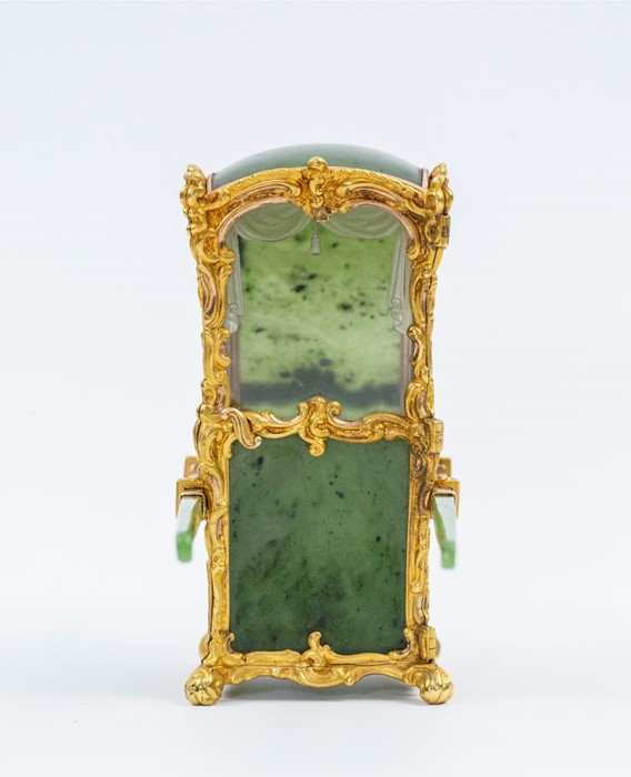 Please note:- Fabergé nephrite, rock crystal, mother-of-pearl and vari-colour gold miniature - Image 61 of 74