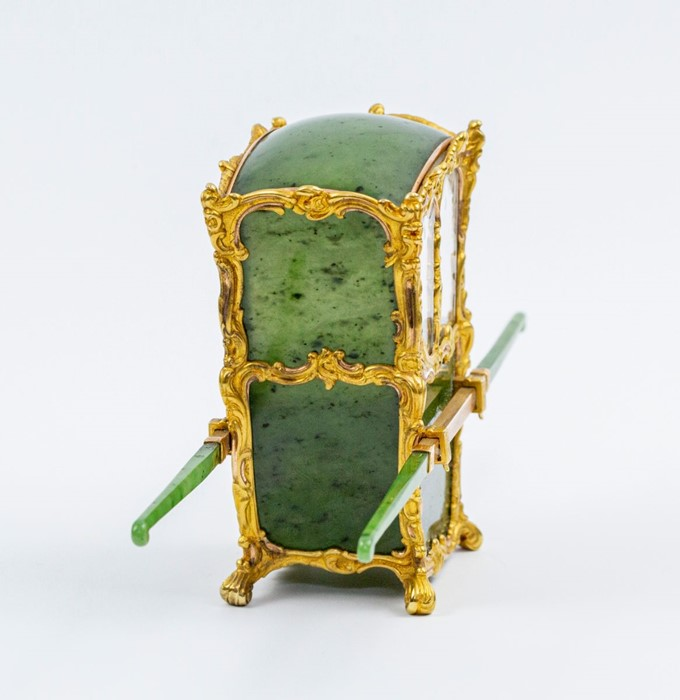 Please note:- Fabergé nephrite, rock crystal, mother-of-pearl and vari-colour gold miniature - Image 16 of 74