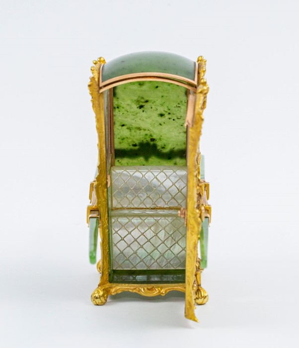 Please note:- Fabergé nephrite, rock crystal, mother-of-pearl and vari-colour gold miniature - Image 44 of 74