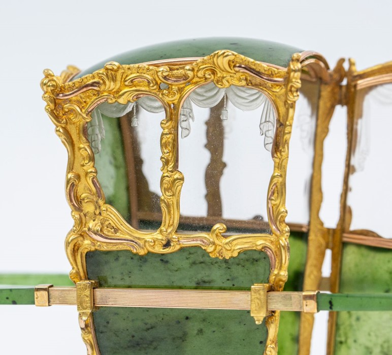 Please note:- Fabergé nephrite, rock crystal, mother-of-pearl and vari-colour gold miniature - Image 55 of 74