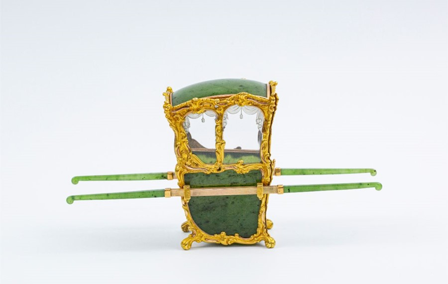 Please note:- Fabergé nephrite, rock crystal, mother-of-pearl and vari-colour gold miniature - Image 48 of 74