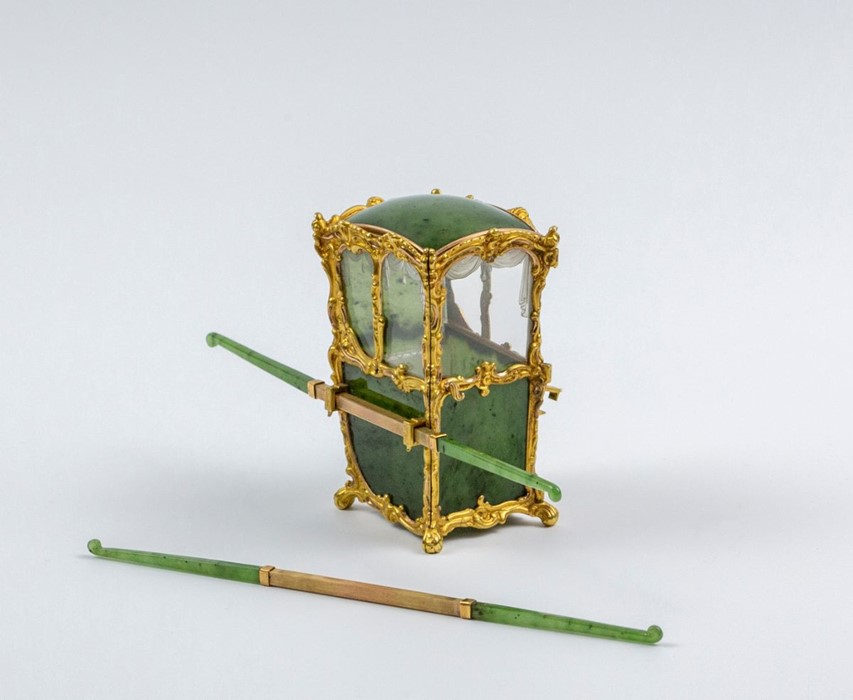 Please note:- Fabergé nephrite, rock crystal, mother-of-pearl and vari-colour gold miniature - Image 14 of 74