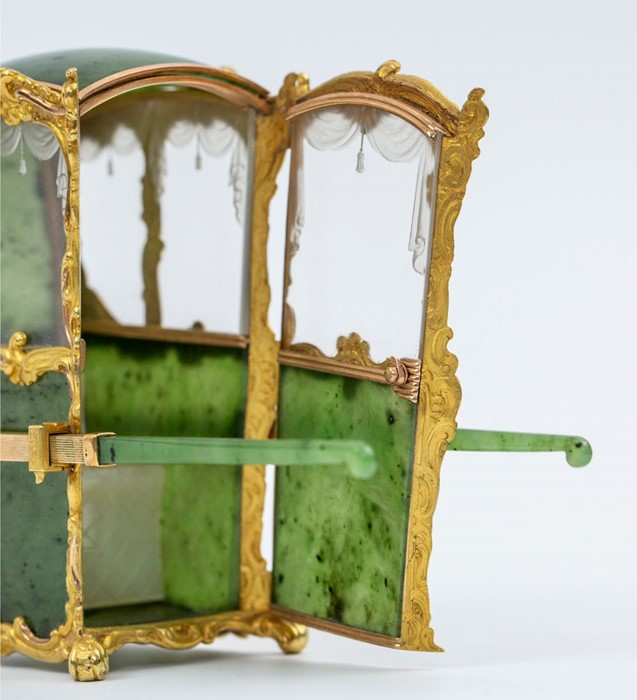 Please note:- Fabergé nephrite, rock crystal, mother-of-pearl and vari-colour gold miniature - Image 4 of 74