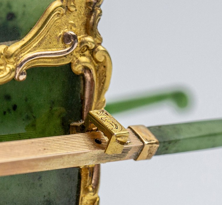Please note:- Fabergé nephrite, rock crystal, mother-of-pearl and vari-colour gold miniature - Image 50 of 74