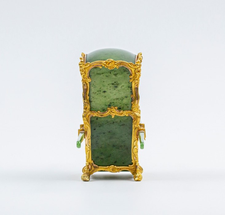 Please note:- Fabergé nephrite, rock crystal, mother-of-pearl and vari-colour gold miniature - Image 58 of 74