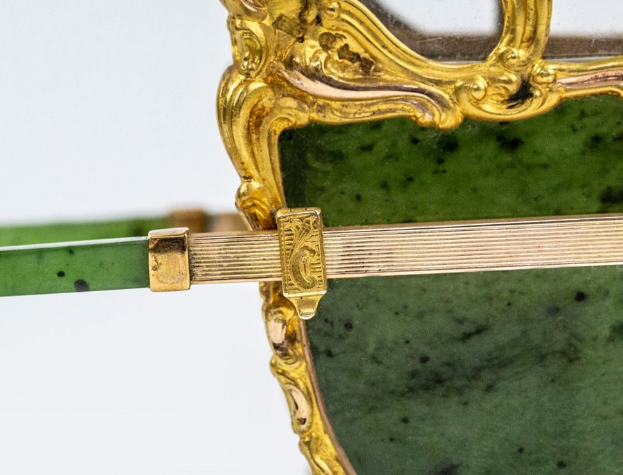 Please note:- Fabergé nephrite, rock crystal, mother-of-pearl and vari-colour gold miniature - Image 10 of 74