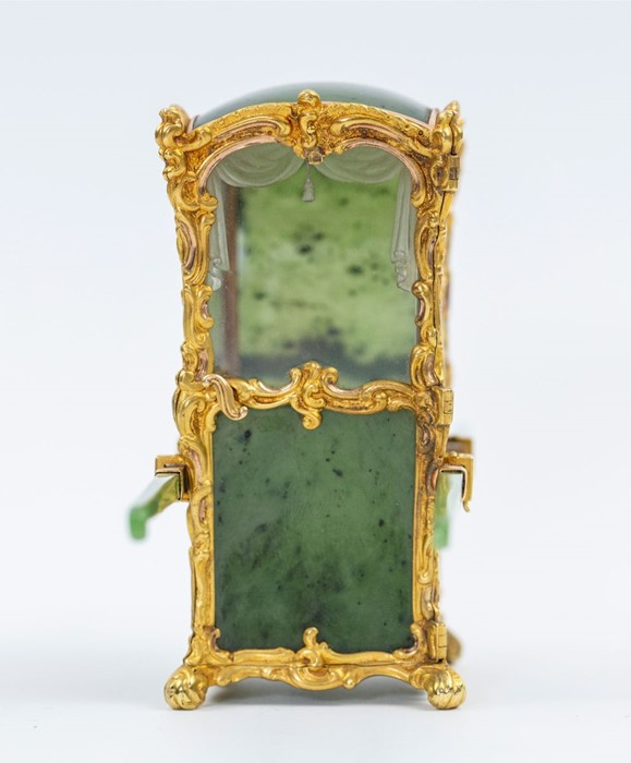 Please note:- Fabergé nephrite, rock crystal, mother-of-pearl and vari-colour gold miniature - Image 60 of 74