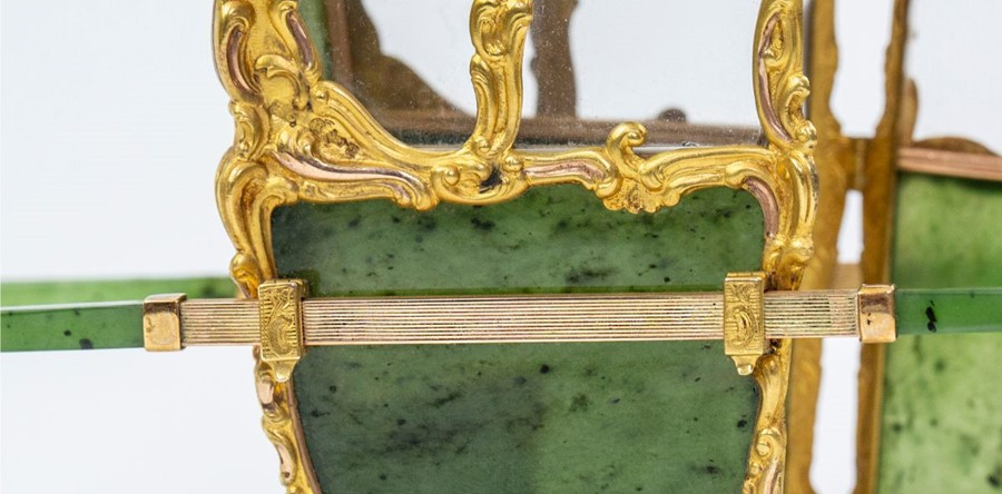 Please note:- Fabergé nephrite, rock crystal, mother-of-pearl and vari-colour gold miniature - Image 15 of 74