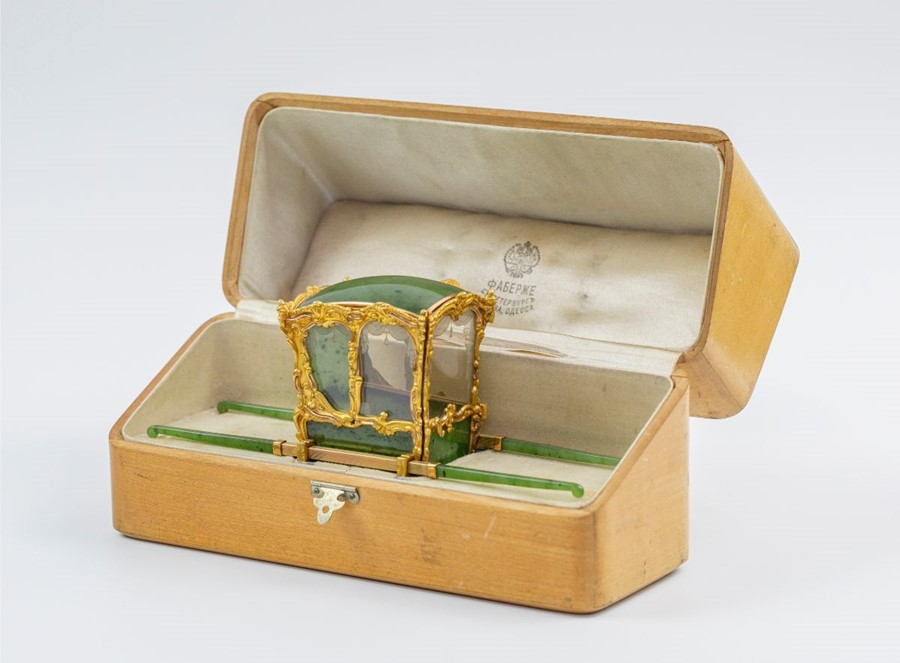 Please note:- Fabergé nephrite, rock crystal, mother-of-pearl and vari-colour gold miniature - Image 26 of 74